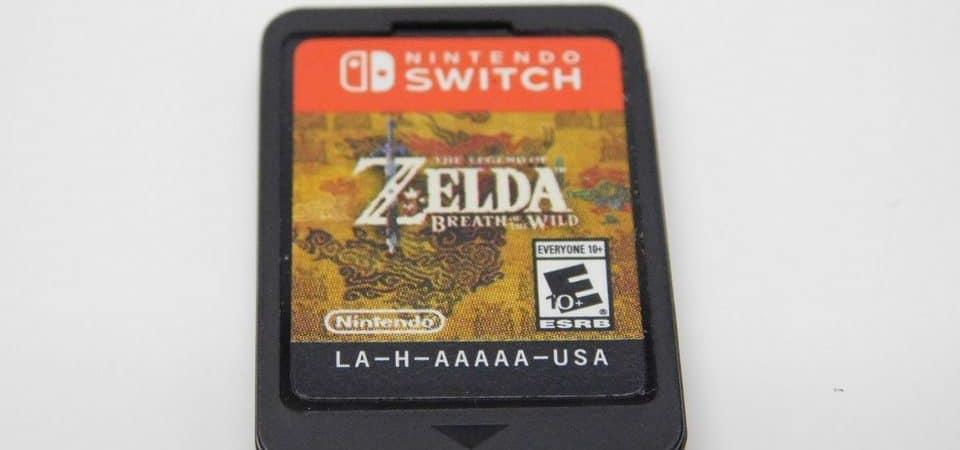 Cartucho de 'Zelda Breath of The Wild' para Nintendo Switch. Imagem: Screenrant/Reprodução