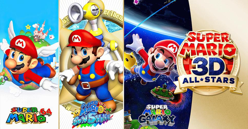 Coletânea de jogos 'Super Mario 3D All Stars'. Imagem: Nintendo/Divulgação