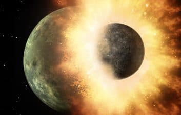 Remains of a protoplanet may be hidden inside the Earth