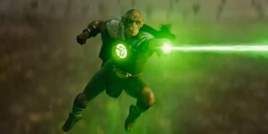 Conheça Yalan Gur, o Lanterna Verde que aparece no 'Snyder Cut' de 'Liga da Justiça'. Imagem: Warner Bros./Reprodução