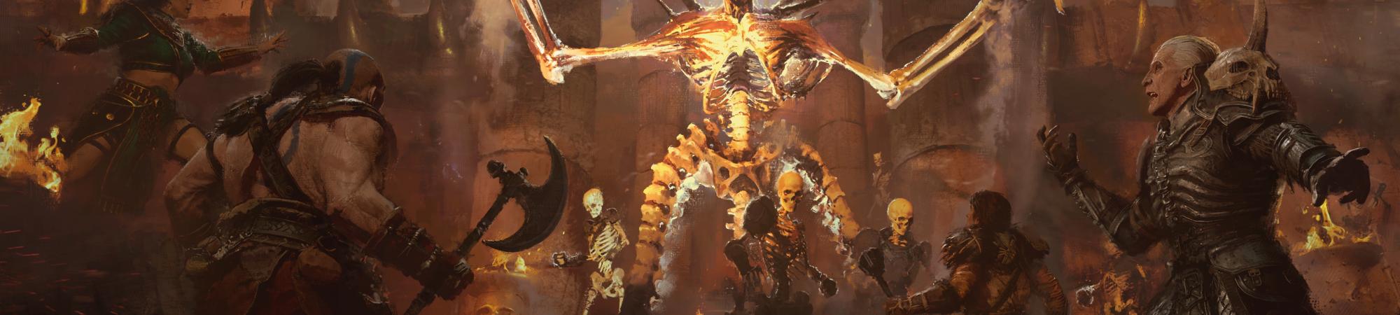 "Imagem do demônio Mephisto, do jogo ""Diablo II: Resurrected"", da Blizzard"