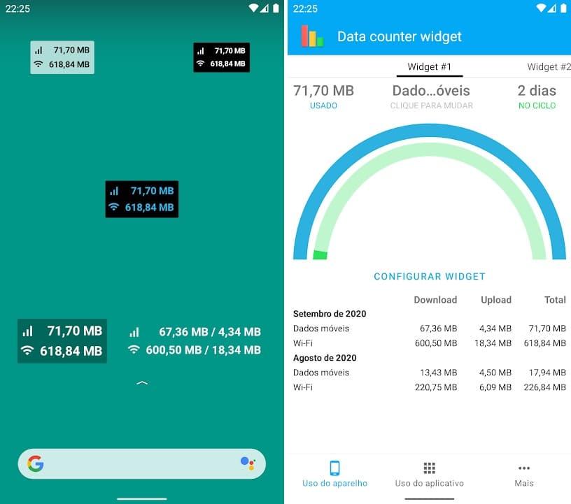 Data Counter Widget para Android