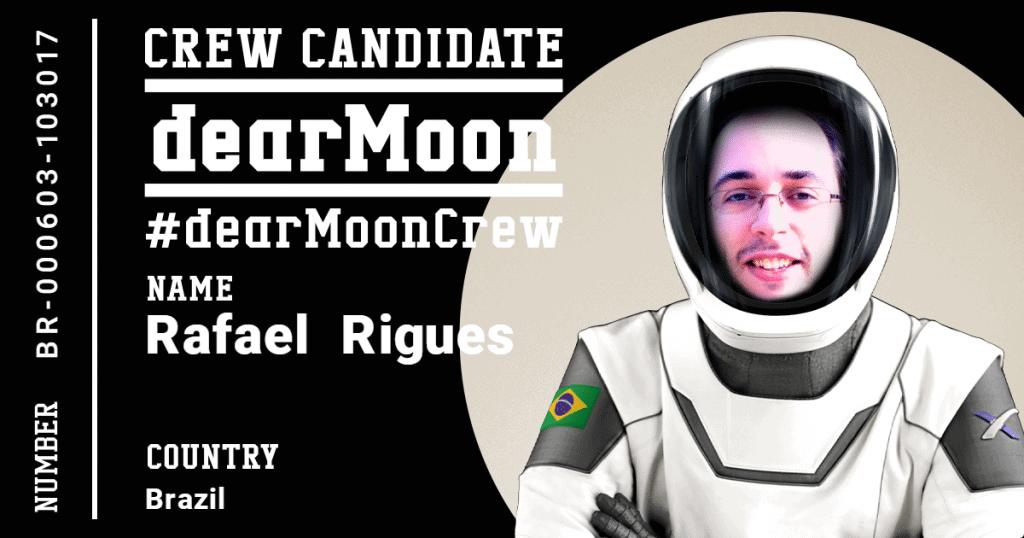 Ficha de inscrição de um candidato à missão dearMoon, de Yusaku Maezawa e SpaceX