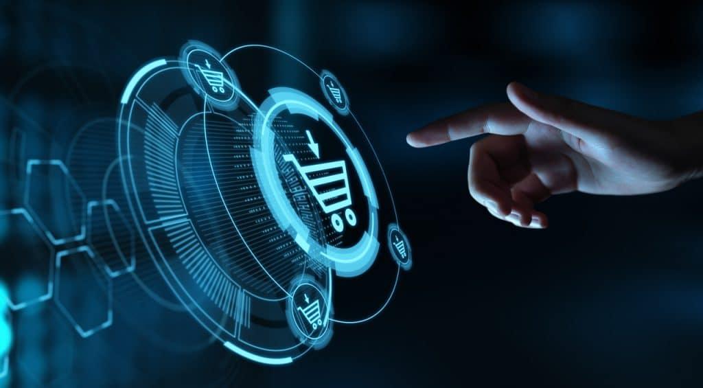 Ilustração digital do e-commerce