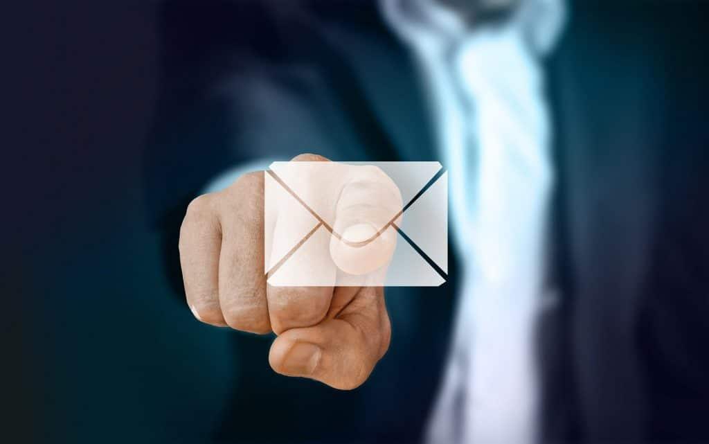 Ilustração de um e-mail