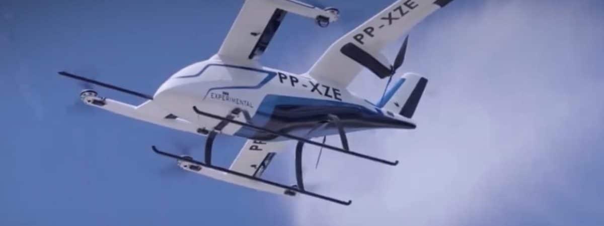 eVTOL da Embraer: veículo é proposto para uso em grandes centros urbanos. Imagem: Divulgação/Embraer