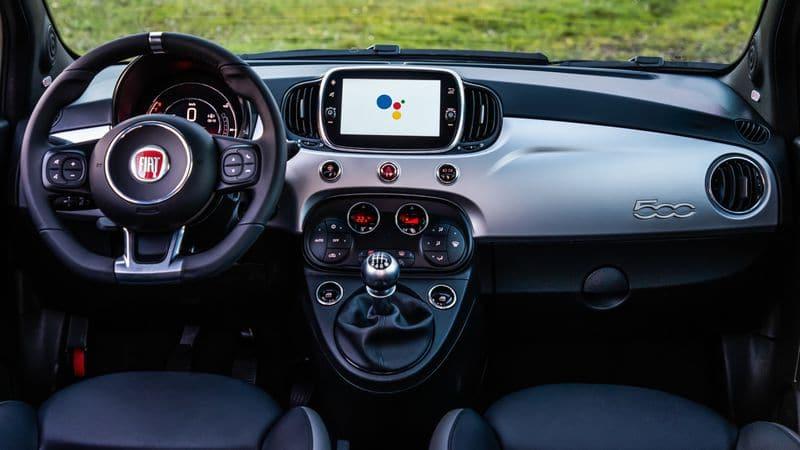 Fiat 500 Hey Google. Imagem: Divulgação