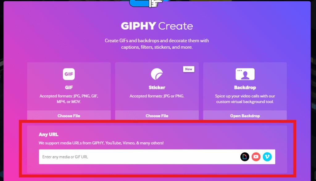 Print da plataforma Giphy