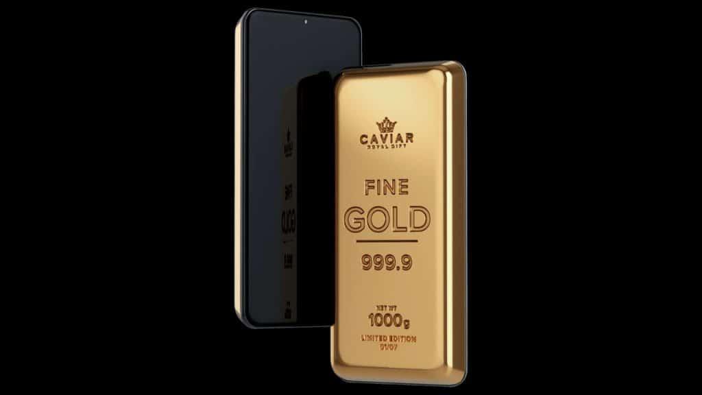 Goldphone, Samsung Galaxy S21 embutido em uma barra de 1 kg de ouro 24 quilates