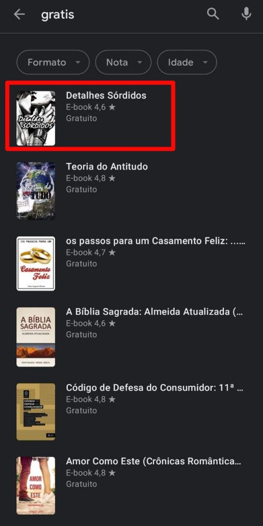 Print do Google Play Livros