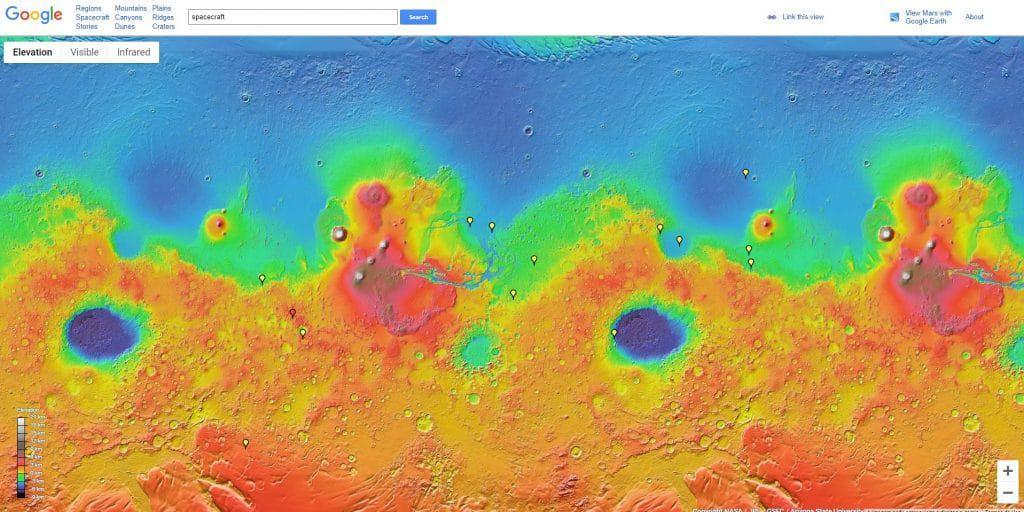 """Ferramenta do Google permite que usuários """"visitem"""" Marte"""