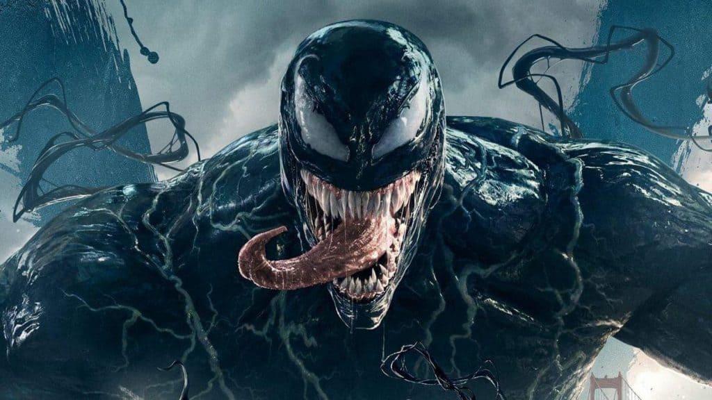 Imagem oficial de Venom, interpretado por Tom Hardy. Imagem: Sony Pictures/Divulgação