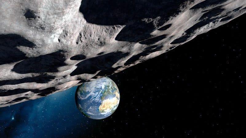 Ilustração de um asteroide