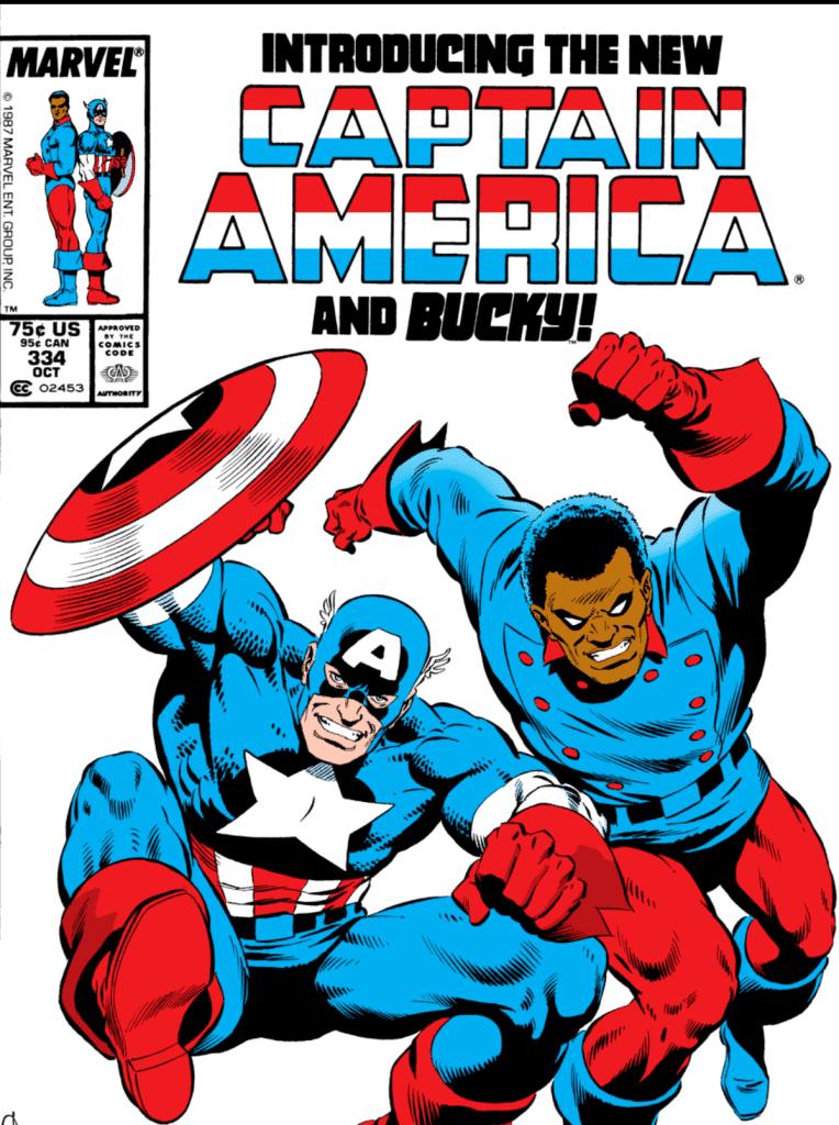 John Walker e Lemar Hoskins, como os novos Capitão América e Bucky, nas HQS da Marvel. Imagem: Marvel Comics/Reprodução