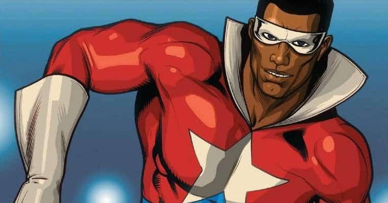 Lemar Hoskins como Estrela Negra (ou Battlestar). Imagem: Marvel Comics/Reprodução