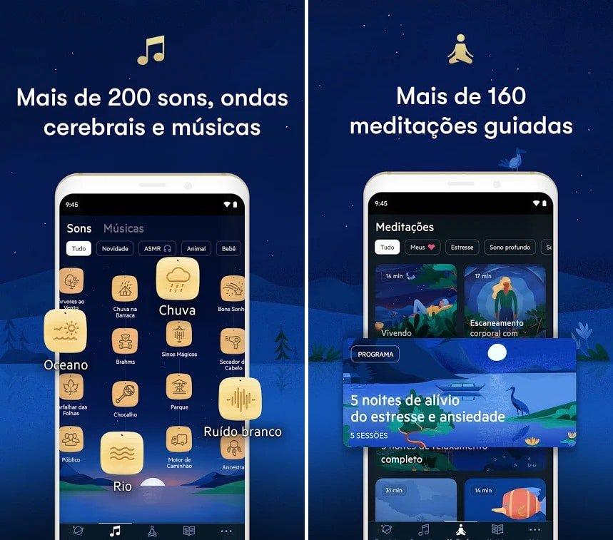Screenshots do app Relax Meditation: Sleep Sounds