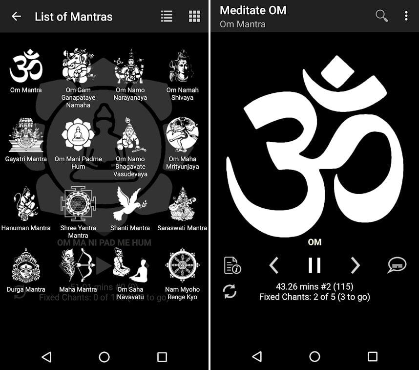 Screenshots do app Ferramenta Meditação Momento