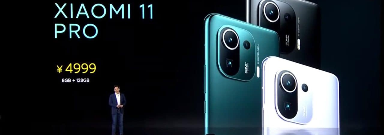 Anúncio do Xiaomi Mi 11 Pro