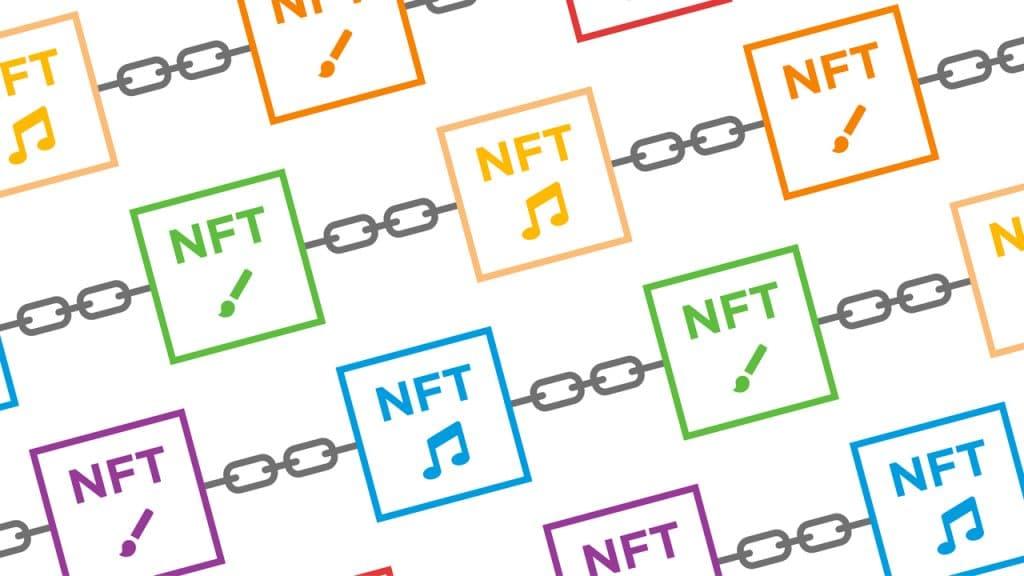 Ilustração de conceito do NFT, que envolve músicas e pinturas, por exemplo