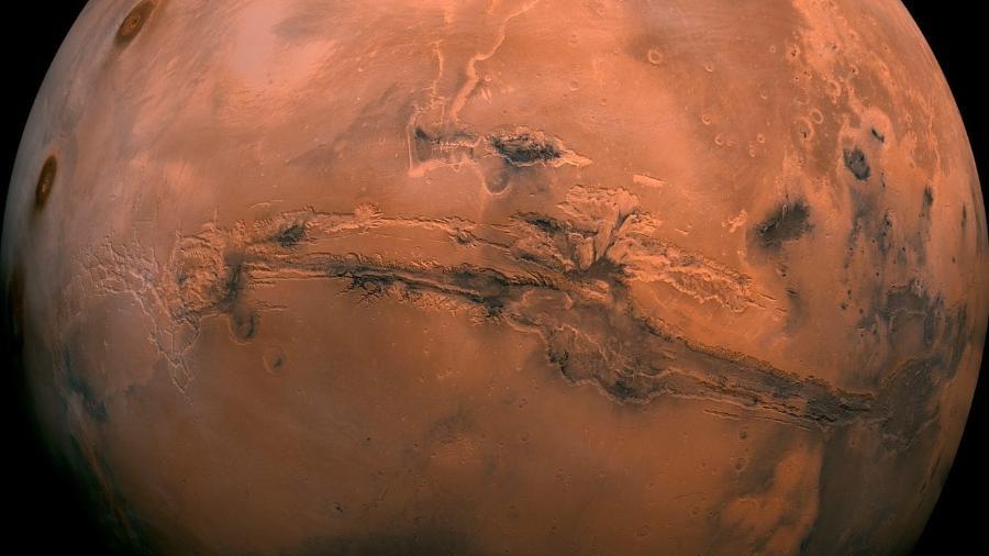Nuvem em Marte