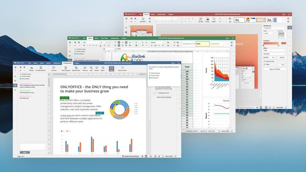 Programas do pacote OnlyOffice