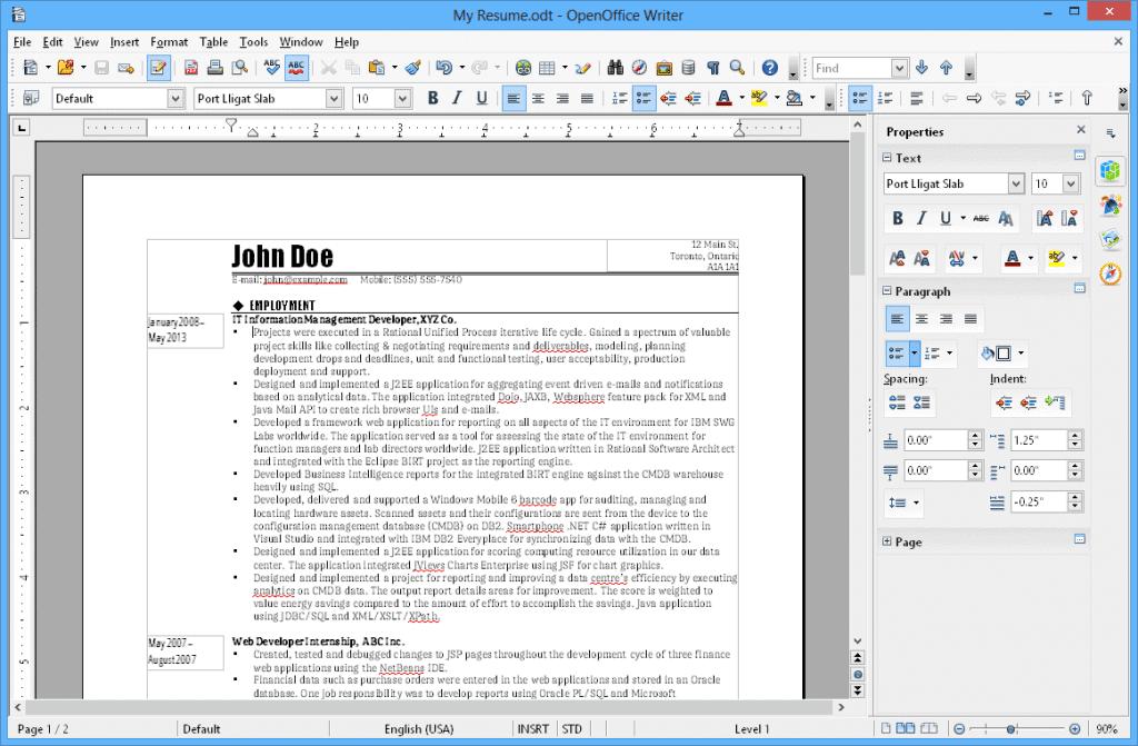 Programa Open Office, uma das alternativas ao Office 365