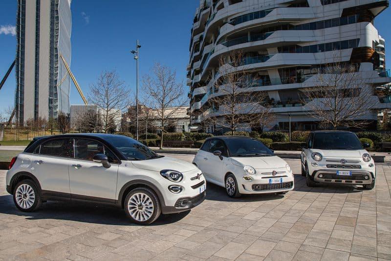 Os três modelos do Fiat 500 Hey Google. Imagem: Fiat/Divulgação