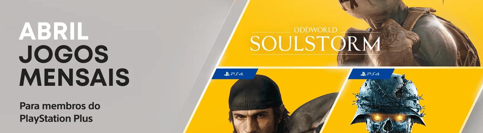 PS Plus de abril. Imagem: PlayStation/Divulgação