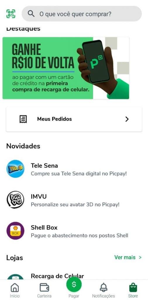 Print do app PicPay