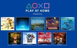 'Play at Home': jogos gratuitos estão disponíveis no PlayStation