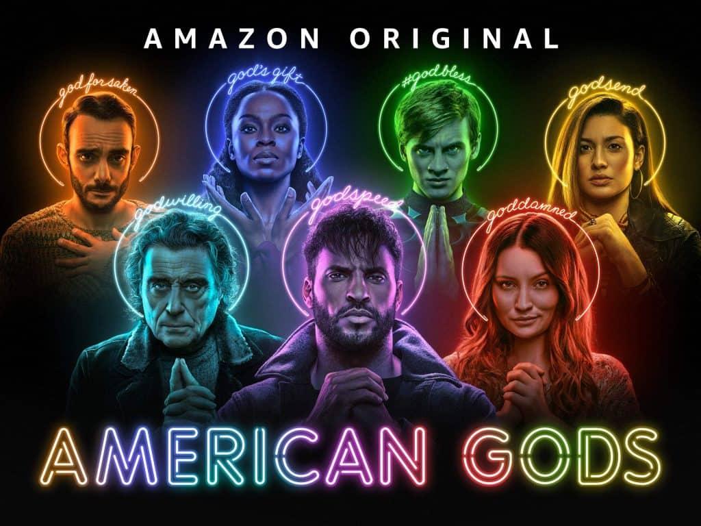 Pôster promocional da terceira temporada de 'American Gods'. Imagem: Amazon Prime/Divulgação