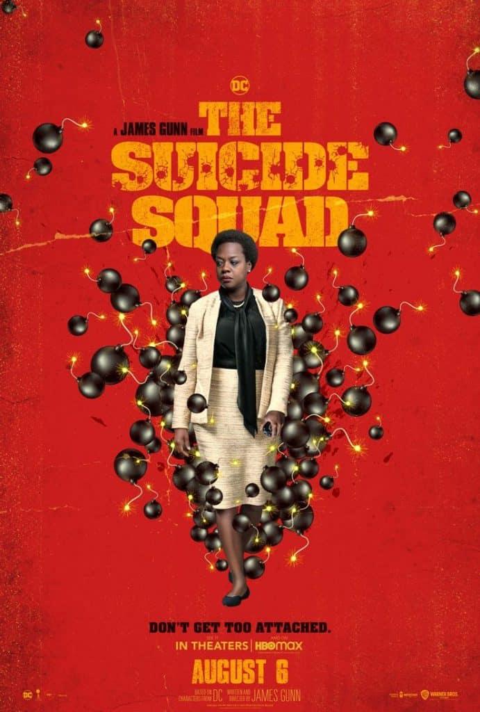 """Pôster do filme """"O Esquadrão Suicida"""", com Viola Davis como Amanda Waller"""