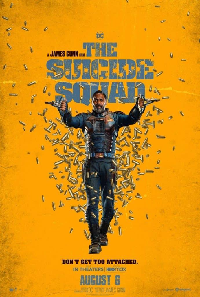 """Pôster do filme """"O Esquadrão Suicida"""", com Idris Elba como o Sanguinário. Imagem: Warner Bros/Divulgação"""