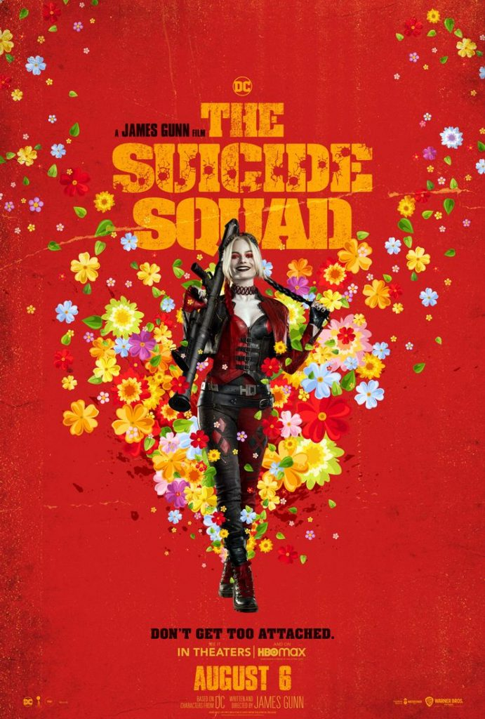 """Pôster do filme """"O Esquadrão Suicida"""", com Margot Robbie como a Arlequina. Imagem: Warner Bros/Divulgação"""