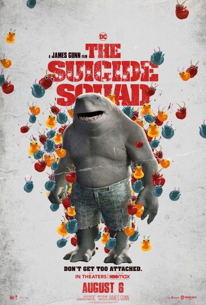 """Pôster do filme """"O Esquadrão Suicida"""", com Sylvester Stallone como o Tubarão-Rei. Imagem: Warner Bros/Divulgação"""
