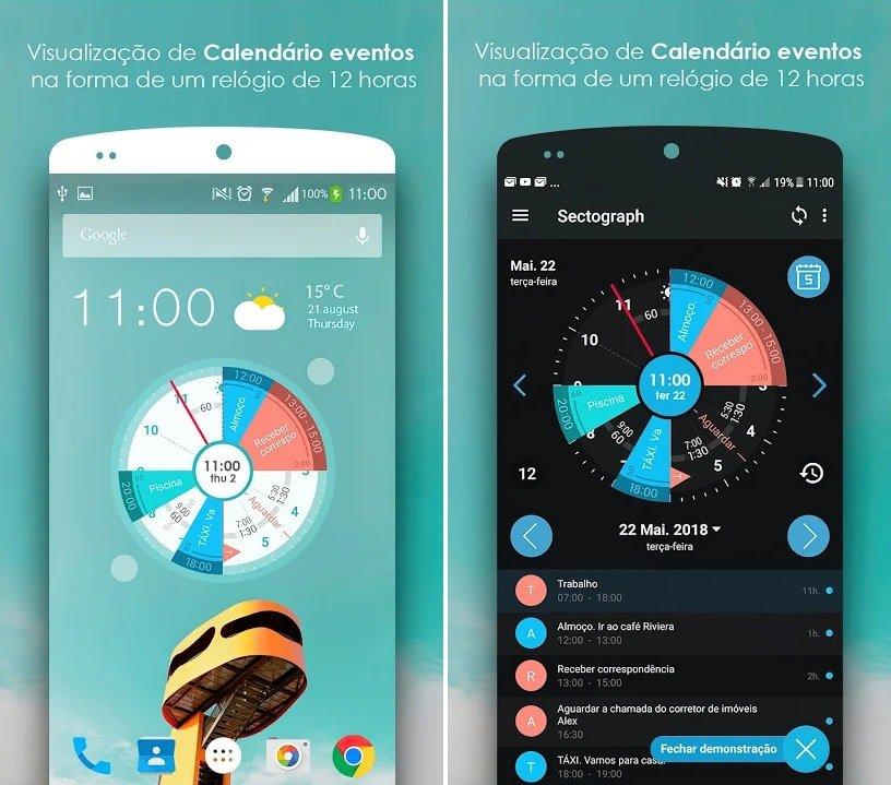 Sectograph para Android