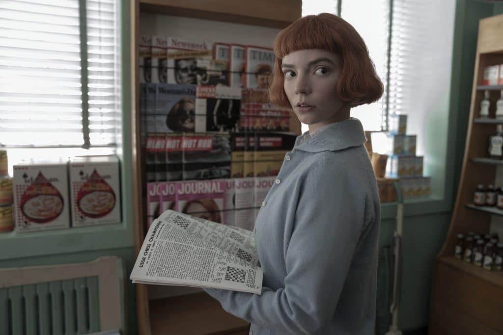Anya Taylor-Joy em 'O Gambito da Rainha'. Imagem: Ken Woroner/Netflix