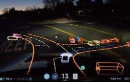 Parece videogame: Tesla divulga vídeo de carro autônomo pelas ruas da Califórnia