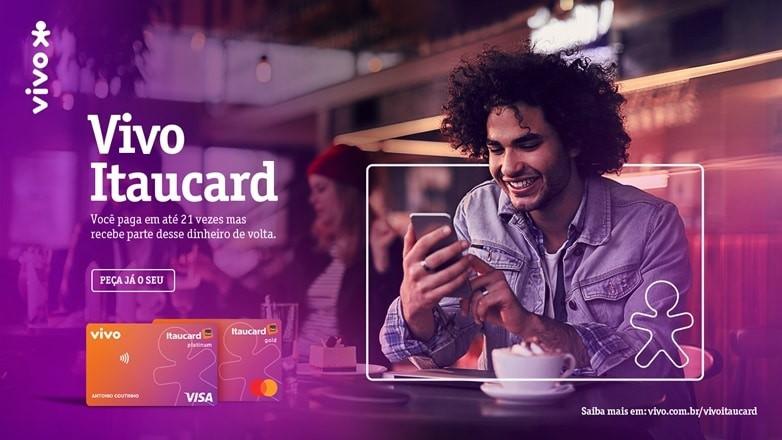 Propaganda do novo cartão anunciado por Vivo e Itaú