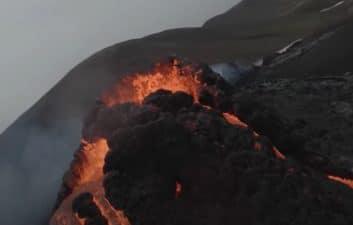 Satellites capture images of erupting volcano in Iceland