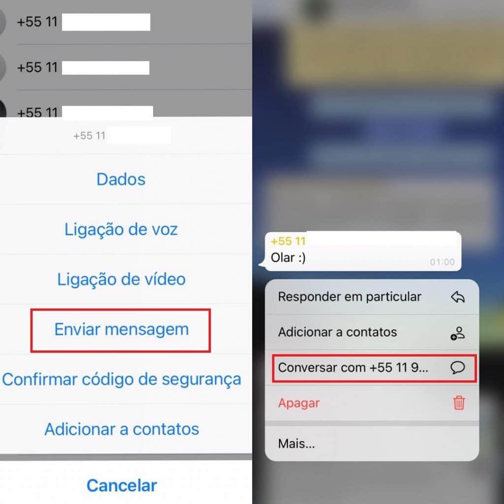 Aprenda a enviar mensagem para contatos sem adicioná-los - Imagem: Olhar Digital