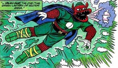 Yalan Gur na HQ Lanterna Verde #19. Imagem: DC Comics/Reprodução