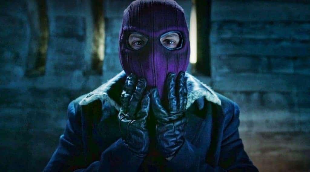 Daniel Brühl como Helmut Zemo em 'Falcão e o Soldado Invernal' (2021). Imagem: Marvel Studios/Divulgação