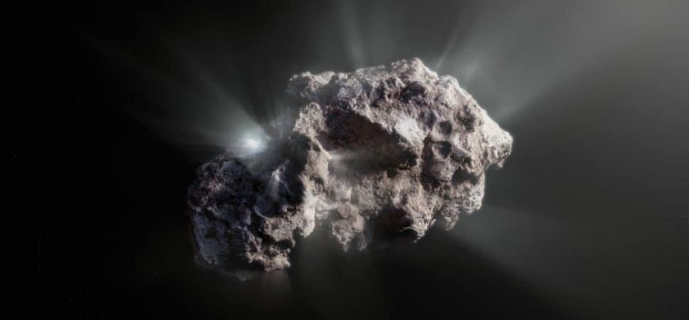 cometa Borisov em reprodução ilustrativa