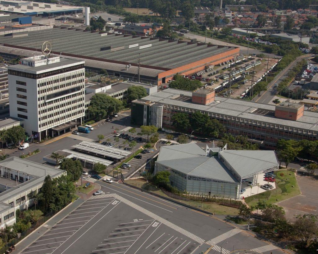 Mercedes-Benz factory in Brazil. Image: Mercedes-Benz / Disclosure