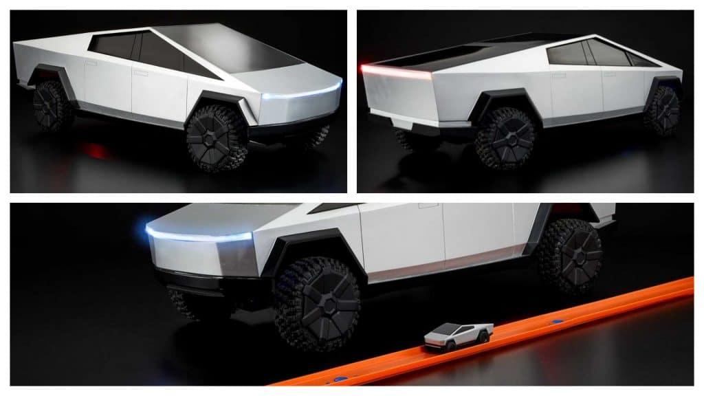 Criada pela Hot Wheels, versão de controle remoto do Cybertruck da Tesla deve começar a ser entregue a apoiadores ainda este mês. Imagem: Hot Wheels/Divulgação