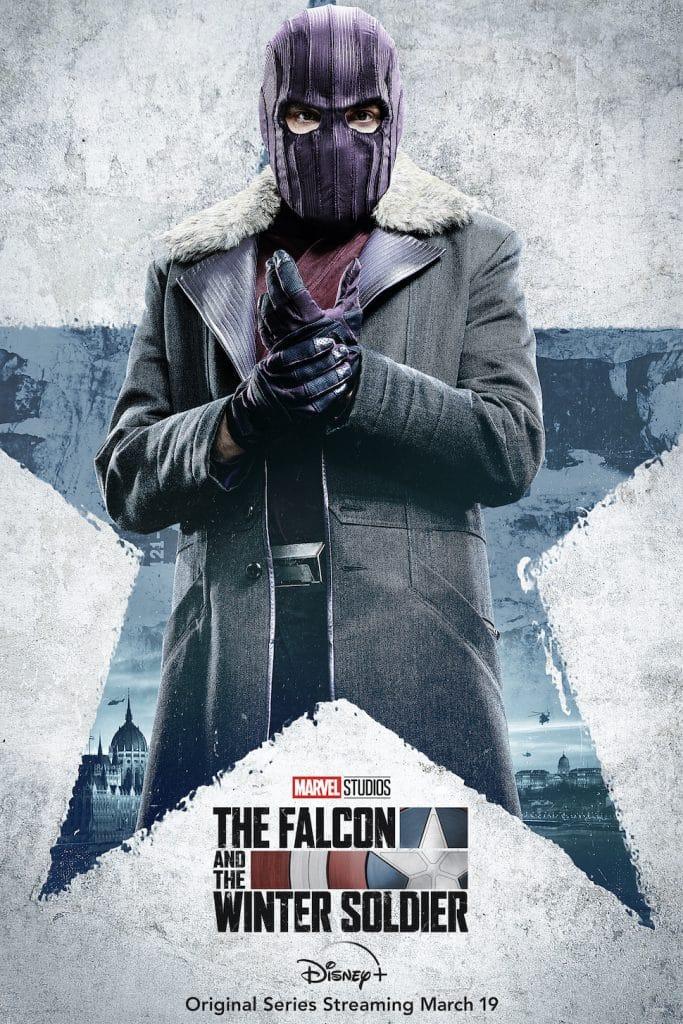 """O vilão da série """"Falcão e Soldado Invernal"""", Barão Helmut Zemo, vivido por Daniel Brühl. Imagem: Marvel Studios/Divulgação"""