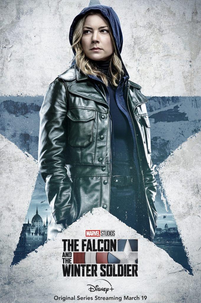 """A personagem Sharon Carter, vivida por Emily VanCamp, na série """"Falcão e Soldado Invernal"""". Imagem: Marvel Studios/Divulgação"""