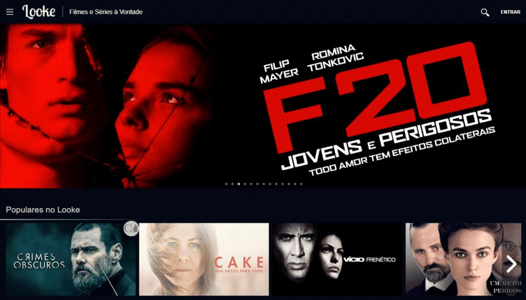 tela do looke, streaming de filmes e séries online
