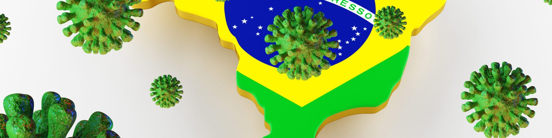 Brazil map of the coronavirus